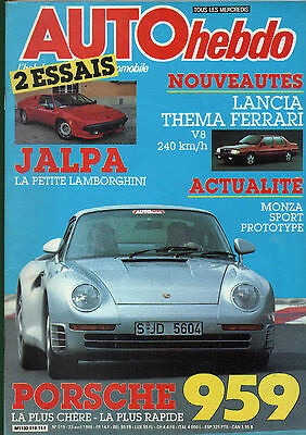 magazine automobile: Auto Hebdo N°519 avril 1986