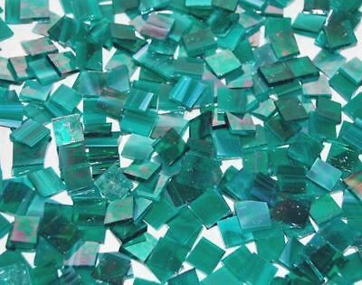 "100 1/2"" Teal Green Iridescent Stained Glass Mosaic Tiles"
