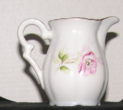 * Beautiful rare Arnalt Pitcher with Pink Flowers & curvy design