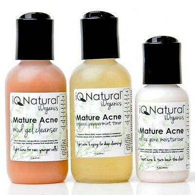 MATURE ACNE | Cleanse Tone Moisturize | Anti Aging Wrinkle Repair SKIN CARE KIT
