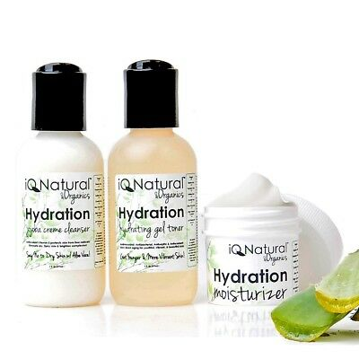 HYDRATION | Cleanse Tone Moisturize| Anti Aging Wrinkle Dry Repair SKIN CARE KIT