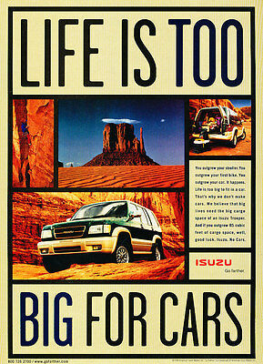 1999 Isuzu Trooper - Grand Canyon - Classic Vintage Advertisement Ad D185