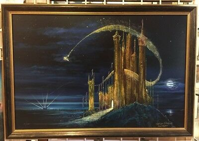 Disney the Gold Castle Giclee Tinker Bell magic Ellenshaw Signed Harrison Peter