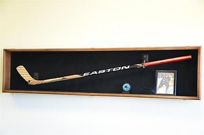 Hockey Stick Puck Display Case Rack Holder Full Size Wall Mounted NHL/ LED LIGHT