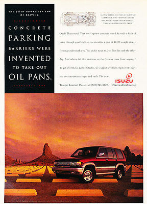 1995 Isuzu Trooper Limited - Oil Pan - Classic Vintage Advertisement Ad D186