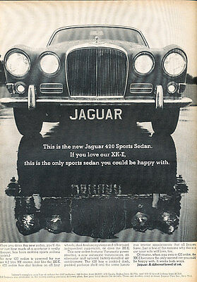 1967 Jaguar 420 Sports Sedan - Reflect - Classic Vintage Advertisement Ad D187