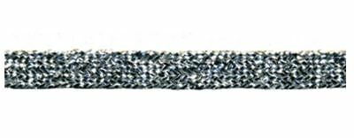 5mm Silver Lurex Braid