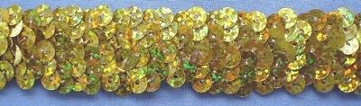 25mm Gold Stretch Sequins
