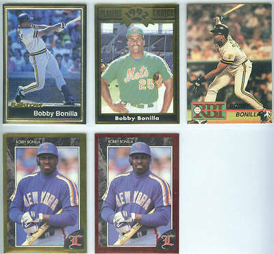 BOBBY BONILLA ~ Lot of (5) Different Rare Oddball Baseball Trading Cards
