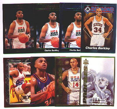 CHARLES BARKLEY ~ Lot of (8) Different Rare Oddball Basketball Trading Cards