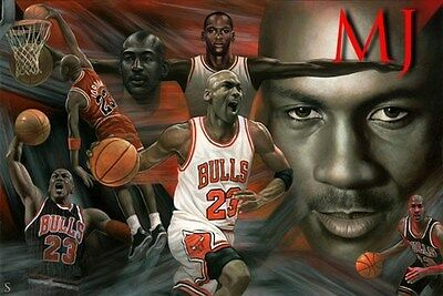 MICHAEL JORDAN POSTER Amazing Collage 2 RARE HOT NEW 24x36