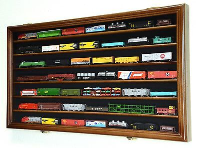 N Scale Train Display Case Cabinet for N or Z Gauge Scale Trains Set