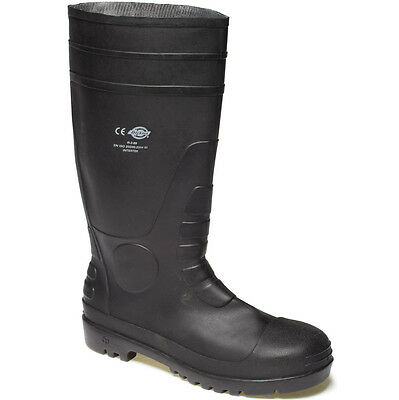 Mens Dickies Super Safety Work Wellies Size Uk 6 - 12 Wellingtons Fw13105