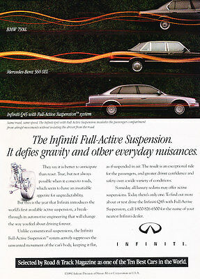1990 Infiniti Q45 - System - Classic Vintage Advertisement Ad D189