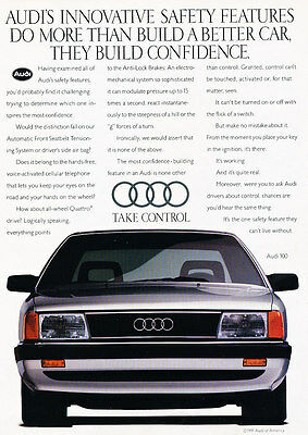 1991 Audi 100 - Innovative - Classic Vintage Advertisement Ad D189