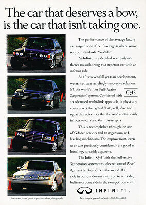 1991 Infiniti Q45 - Deserves - Classic Vintage Advertisement Ad D189