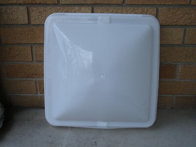 RV camper horse trailer ROOF VENT  LID 14x14 NEW  white replacement OEM ventline