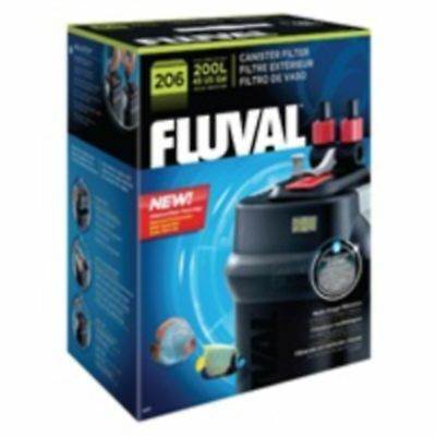 Fluval 206 External Aquarium Filter Plastic Fish Tank Filtration Cleaning Pets