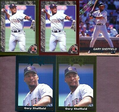 GARY SHEFFIELD ~ Lot of (5) Different Rare Oddball Baseball Trading Cards
