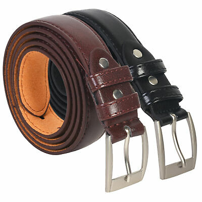 Dress Belts Mens Set Of Two Black Brown All Sizes Free Shipping Great Gift Idea