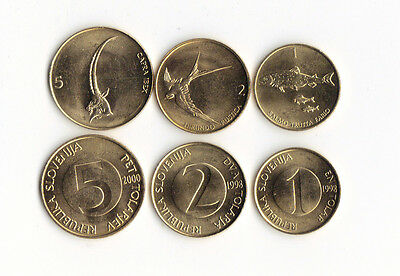World Foreign Coins**SLOVENIA**Lot of 3 coins**O10** UNC **