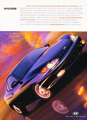 1998 Hyundai Tiburon - Difference - Classic Vintage Advertisement Ad D190