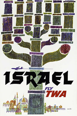 TW28 Vintage ISRAEL Travel Tourism Poster Re-Print A4