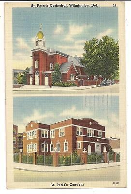 St. Peter's Cathedral and St. Peter's Convent Wilmington DE Postcard 101012