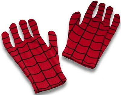 Spider-Man Gloves Spiderman Superhero Adult Dress Up Halloween Costume Accessory