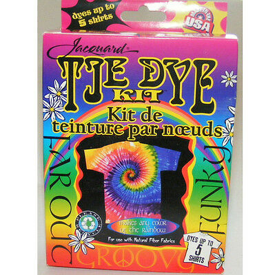 Funky Groovy Tie Dye Kit For Up To 5 Shirts Great Fun