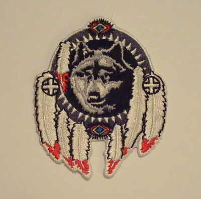 WOLF DREAM CATCHER Indian Emblem Embroidered PATCH