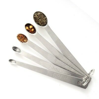 Norpro 3080 Stainless Steel 5pc Measuring Spoon Set