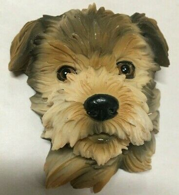 Cute Shih Tzu Puppy Head 3-D  Sculpted Magnet