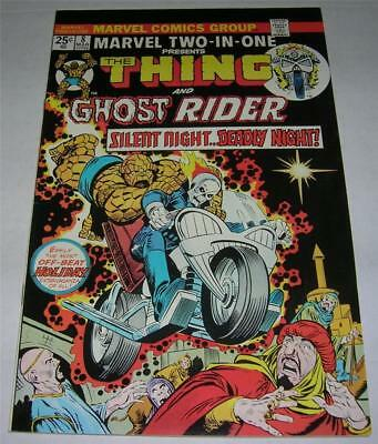 MARVEL TWO-IN-ONE #8 THING & GHOST RIDER (1975) early GHOST RIDER app! (VF-)
