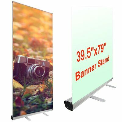 "Professional 39.5""x79"" Retractable Roll Up Banner Stand Trade Show Sign Display"