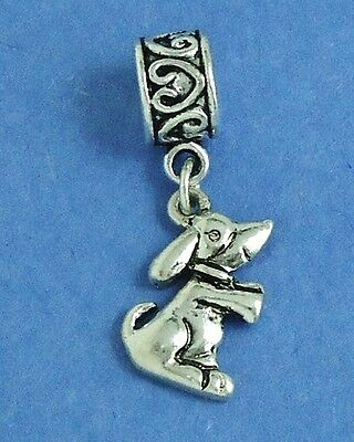 Cute Dachshund Lovers Slider Dangle Charm fits European Bracelets