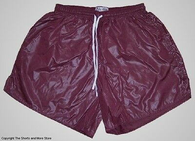 Red Wet Look Shiny Nylon Soccer Shorts by Soffe - Men's Medium ...