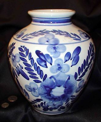 """Lovely 9-1/2""""JARDINAIRE Blue/White Floral Made in China"""