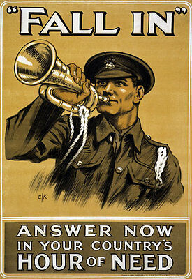 WA73 Vintage WWI British Earl Roberts Recruitment War Poster WW1 A1 A2 A3