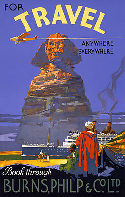 TX168 Vintage Egypt Airline Airways Travel Tourism Poster Re-Print A4