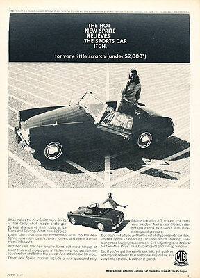 1967 Austin Healey MG Sprite - Itch - Classic Car Advertisement Print Ad D194