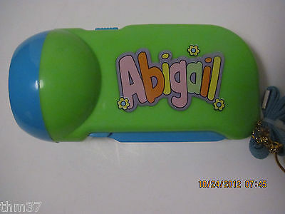 My Name Flashlight LED Pump Action by John Hinde Personalized Abigail to Evan
