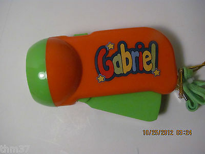 My Name Flashlight LED Pump Action by John Hinde Personalized Gabriel to Morgan