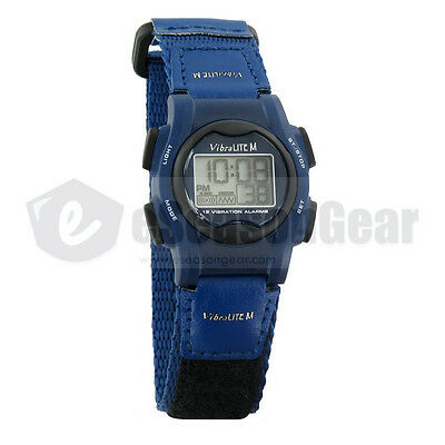 VibraLITE Mini 12 Vibrating Small Alarm Reminder Watch Blue, VM-VBL #23, Kids