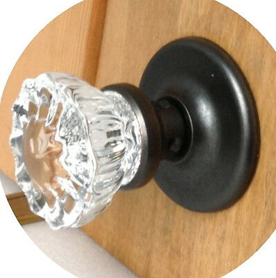 Perfect Interior Crystal Door Knob Set-fit ANY DOOR-with Features of a $100+Set