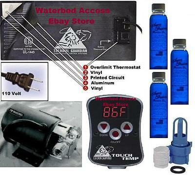 Waterbed heater with digital control, electric drain pump & waterbed conditoner