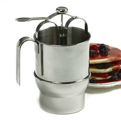Norpro 3171 Pancake Waffle Cupcake Biscuit Batter Dispenser with Holder 4 Cup