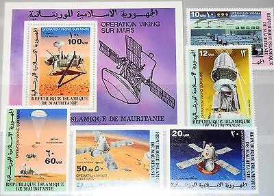 MAURITANIA MAURETANIEN 1977 552-6 Block 16 352-3 C173-6 Viking Mission Space MNH