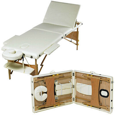 3 Section Foldable Table Beauty Adjustable Portable Treatment Massage Tattoo Bed