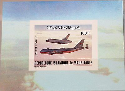 MAURITANIA MAURETANIEN 1981 Block 31 U C206 Flight Columbia Space Shuttle MNH